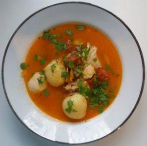 Fish and Chorizo Soup