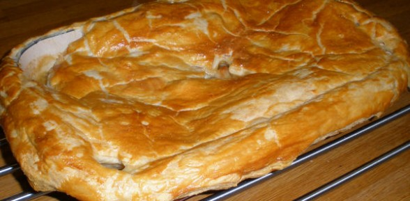 Chicken, Leek and White Wine Pie