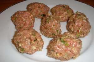Thai Pork Meatballs Raw